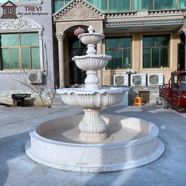 French Tiered Marble Water Fountain for Backyard Decor Sale MOKK-787