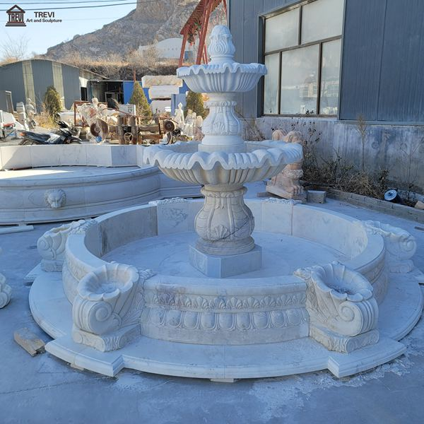Yard Decoration Outdoor Marble Water Fountain for sale MOKK-797