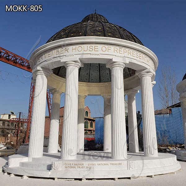 Outdoor Decoration Huge Column Marble Gazebo for Sale MOKK-805