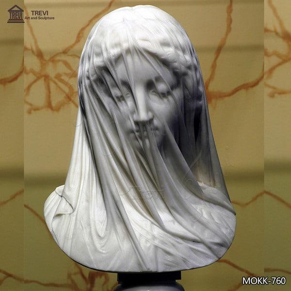 Home Decoration Carrara Marble Virgin Veil Madonna Bust for Sale MOKK-760