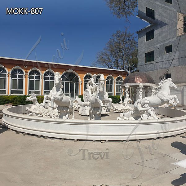 Hotel Square Exquisite Apollo Marble Fountain for sale MOKK-807