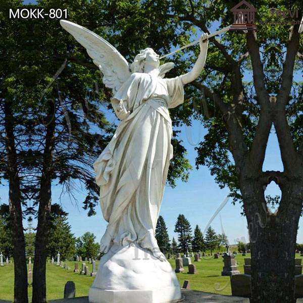 Large Marble Garden Angel Statue Cemetery for Sale MOKK-801