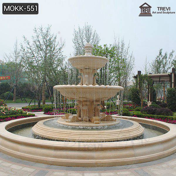 Three Tiered High Quality Marble Water Fountain Design Factory MOKK-551