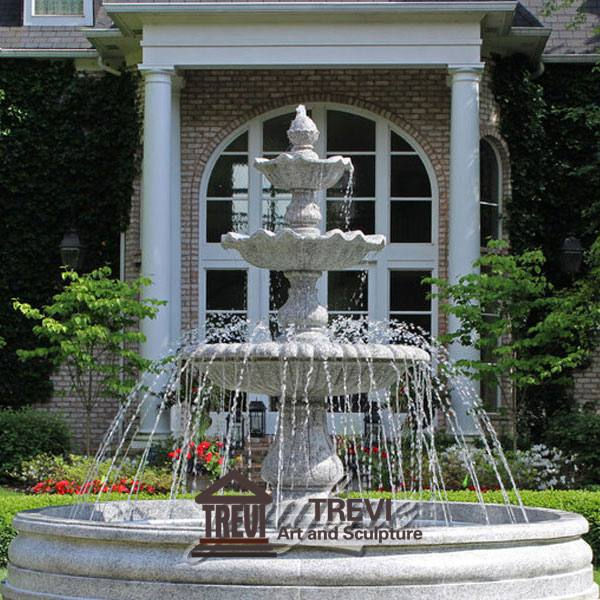 Outdoor Three Tiered High Quality Garden Marble Water Fountain Design MOKK-126