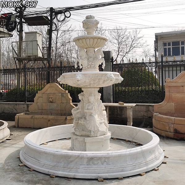 Vintage Female Statue Marble Fountain for sale MOKK-927