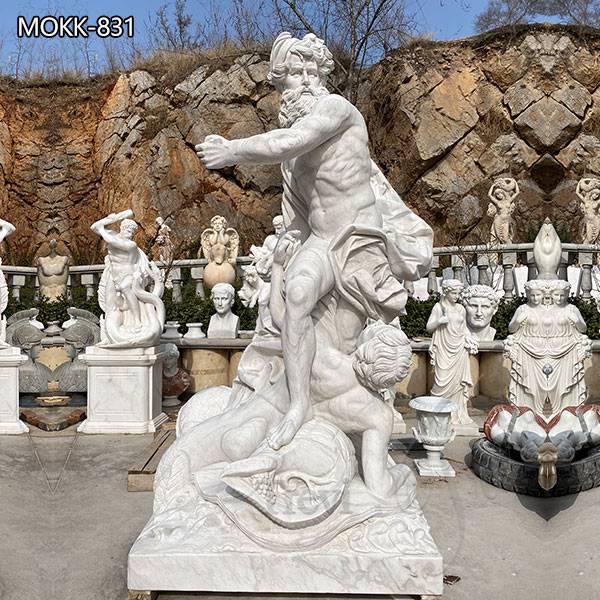 Life Size Poseidon Statue Marble Garden Statue for sale MOKK-831