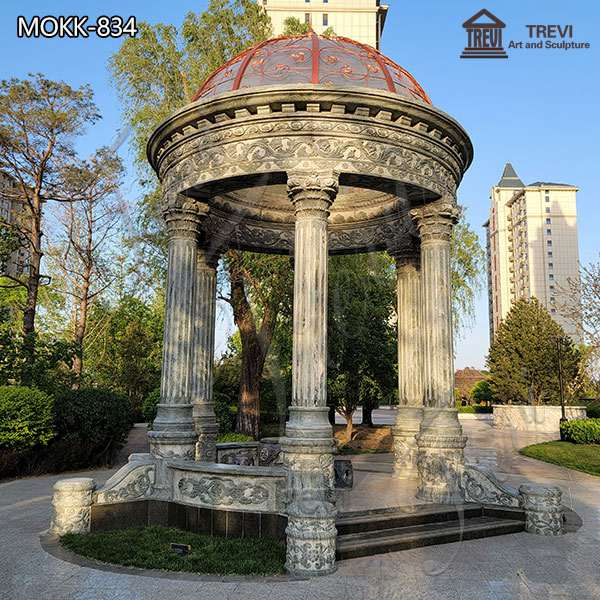 Large Garden Marble Gazebo Outdoor Decoration for Sale MOKK-834