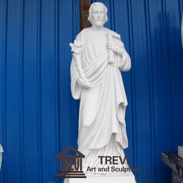 White Marble Religion St Joseph Statue for Sale CHS-258