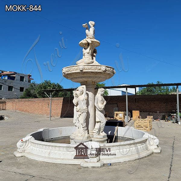 Outdoor Large Marble Woman Fountain China Factory MOKK-844
