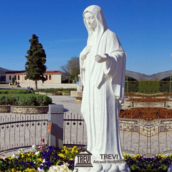 Life Size Marble Mary Statue Church Decoration for Sale CHS-090