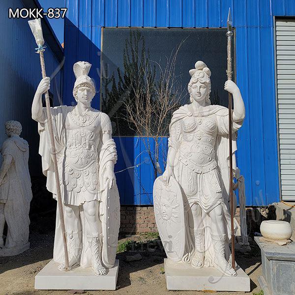 Custom Manor Marble Warrior Statue Life Size for Sale MOKK-837