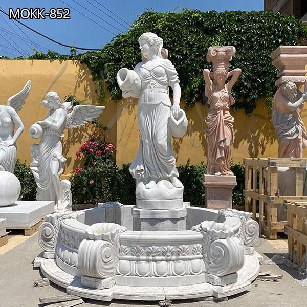 Marble Woman Water Fountain for Garden Decoration Sale MOKK-852