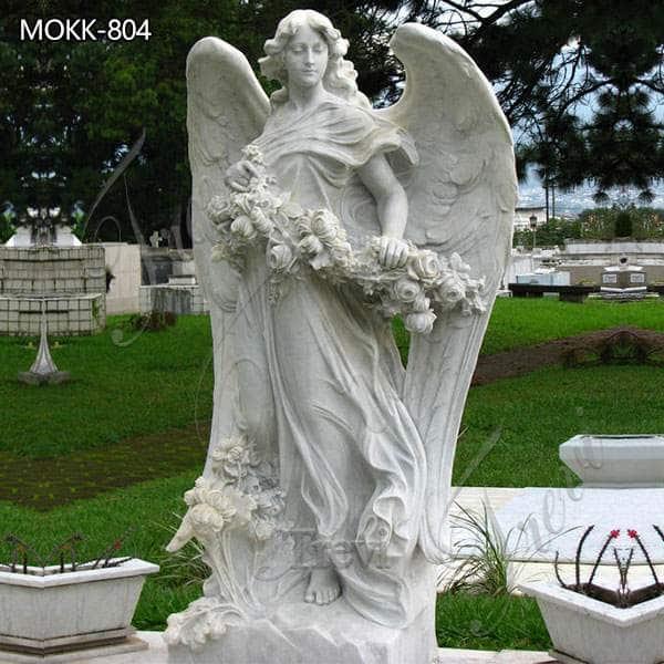 Large Size Marble Bouquet Angel Statue for Sale MOKK-804