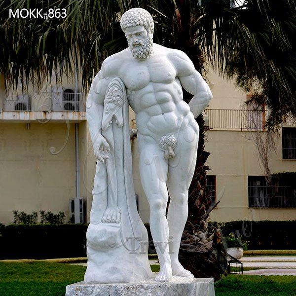 Life Size Marble Hercules Statue Custom Design for Sale MOKK-863
