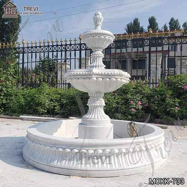 Medium Size Outdoor Marble Fountain Garden Decoration for Sale MOKK-733