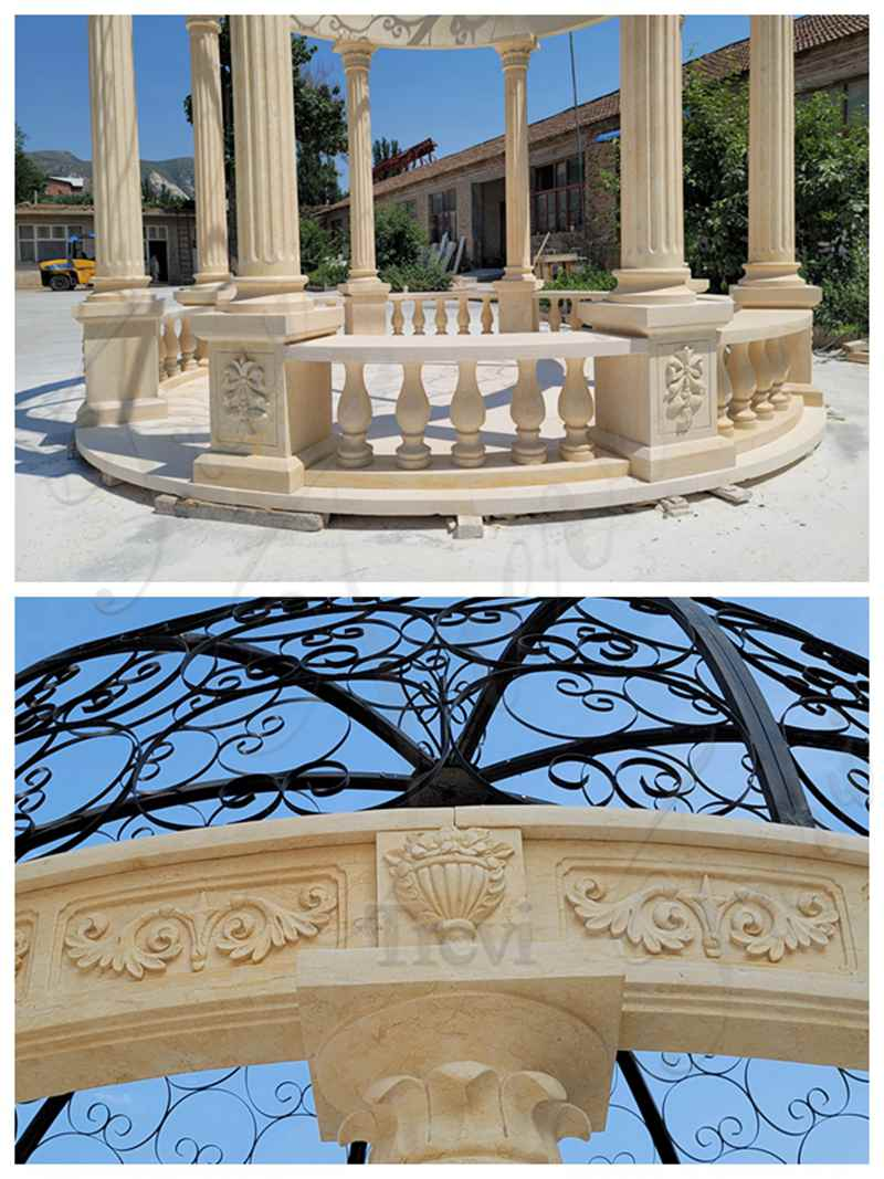Outdoor Decoration Classic Marble Gazebo for Sale MOKK-873 (3)