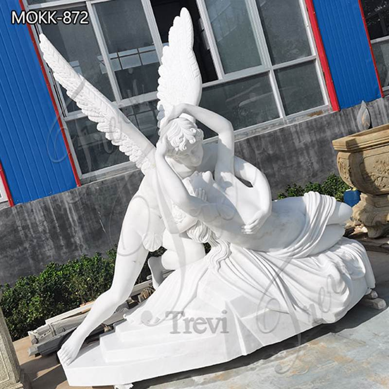 Life Size Cupid and Psyche Marble Angel Statue for Sale MOKK-872 (1)