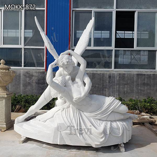 Life Size Cupid and Psyche Marble Angel Statue for Sale MOKK-872