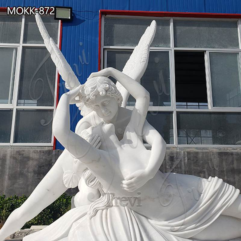 Life Size Cupid and Psyche Marble Angel Statue for Sale MOKK-872 (3)