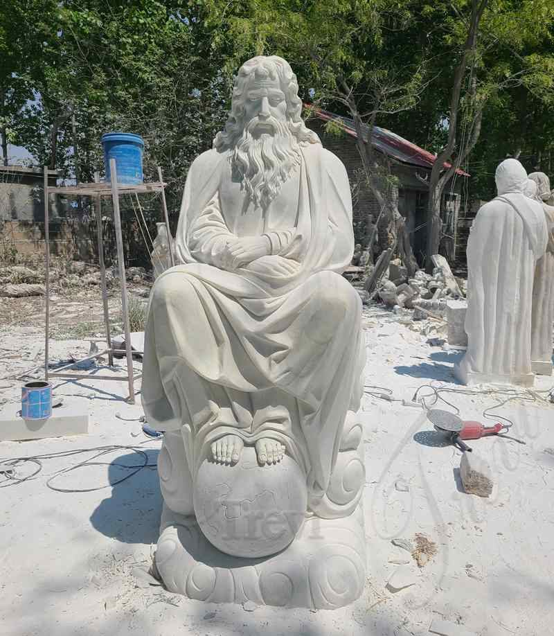 Life Size Marble Jesus Earth Statue Church Decoration for Sale CHS-824 (2)