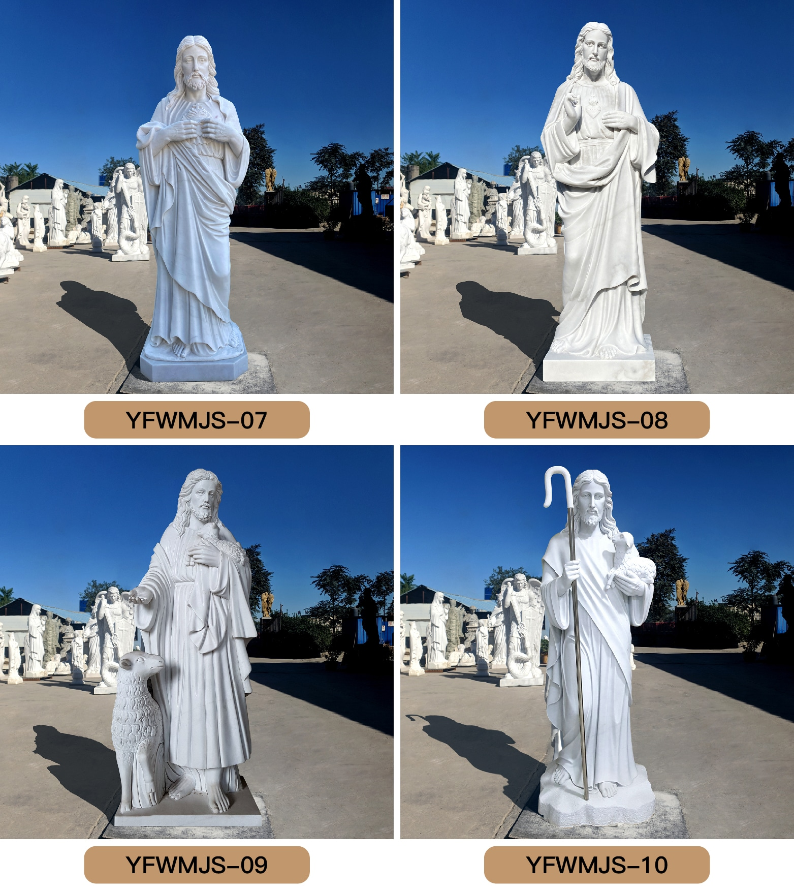 Life Size Marble Jesus Earth Statue Church Decoration for Sale CHS-824 (3)