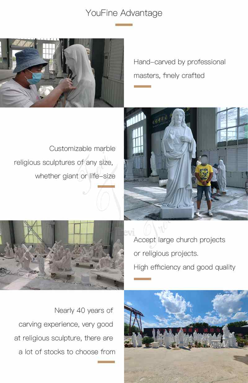 Life Size Marble Jesus Earth Statue Church Decoration for Sale CHS-824 (5)