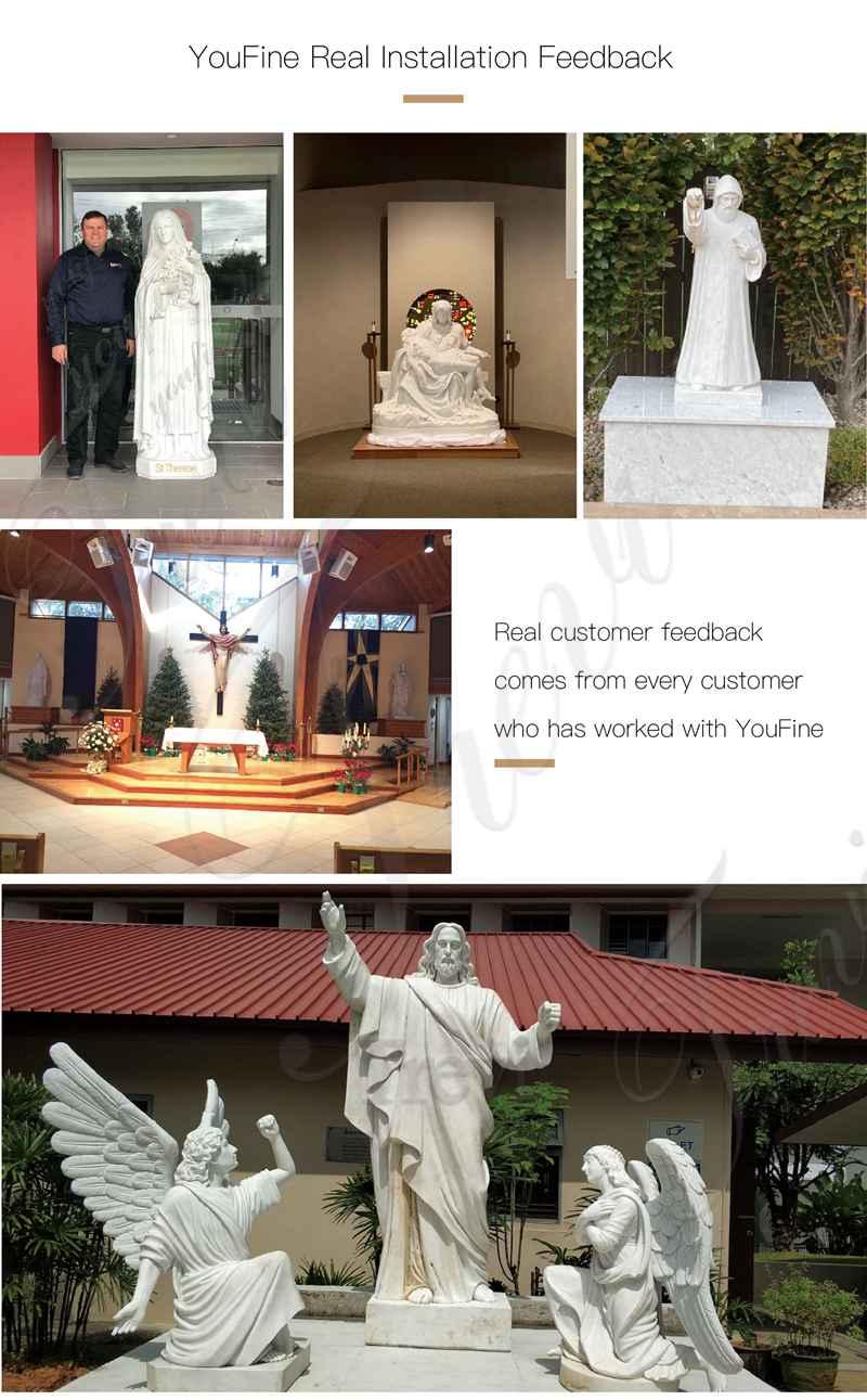 Life Size Marble Pieta Statue Church Decoration for Sale CHS-825 (2)
