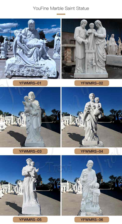 Life Size Marble Pieta Statue Church Decoration for Sale CHS-825 (4)