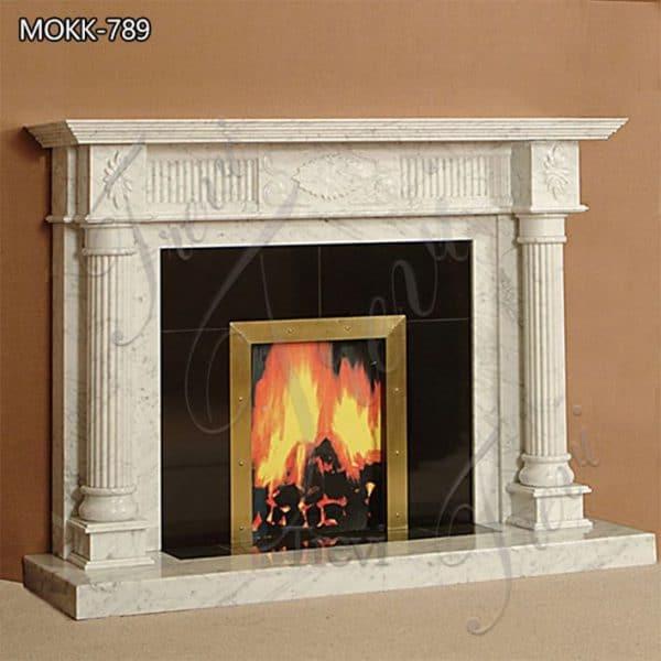 White Marble Fireplace SurroundIndoor Decor for Sale MOKK-789