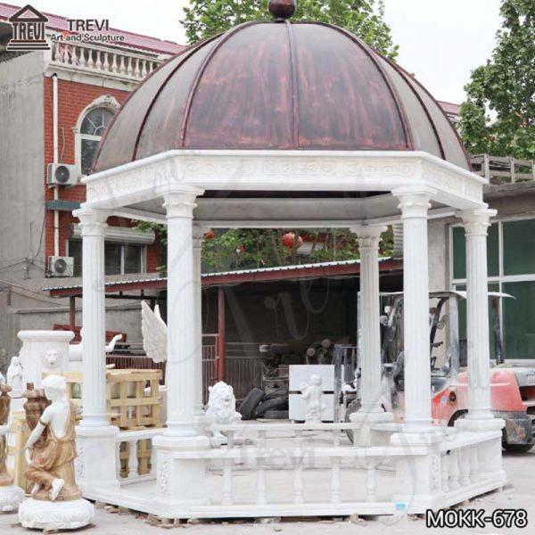 Large White Marble Gazebo Garden Decor Supplier MOKK-678