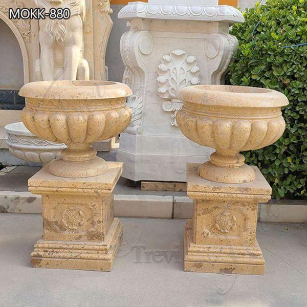 Beige Antique Marble Planters Decor Resort Residential for Sale MOKK-800
